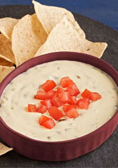 Creamy Queso Blanco Dip – Queso blanco deliciousness and tangy sour cream put the creamy in this quick-to-make appetizer recipe. And for the kick? We added pickled jalapeño nacho slices.
