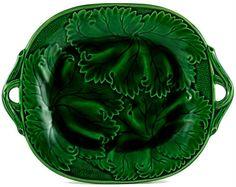 Antique English Green majolica