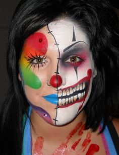Nicole Faulkner #clown #skull