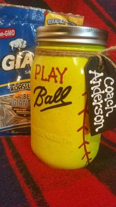 Softball Coach Thank You Gift (fill with goodies or gift cards from the team)