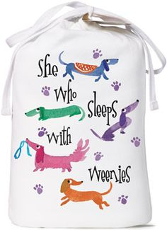 She Who Sleeps With Weenies Nightshirt - Dachshund Rescue of North America - Doxie Store