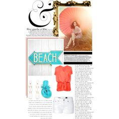 parasol beach, created by krisabelle2 on Polyvore