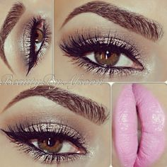 @beautybyafsoon  baby link lips and simple eyes - @wakeupandmakeup- #webstagram