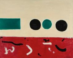 Movement East to West. Artist: Adolph Gottlieb. Completion Date: 1956. Style: Abstract Expressionism. Genre: abstract painting.