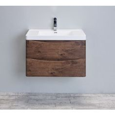Shop for Eviva Smile 30-Inch Rosewood Modern Bathroom Vanity Set with Integrated White Acrylic Sink. Get free delivery at Overstock.com - Your Online Furniture Outlet Store! Get 5% in rewards with Club O! - 19328506