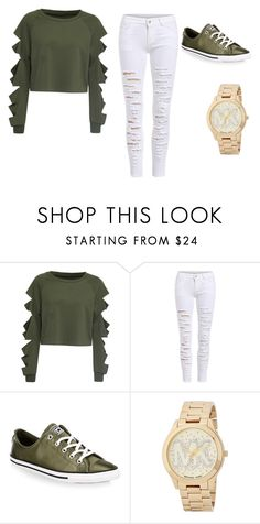 """casual"" by madelynbeckman32 on Polyvore featuring WithChic, Converse and Michael Kors"