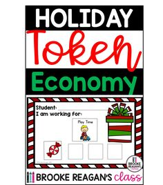 Holiday Token Economy: Positive reinforcement for behavior intervention. Token Economy with a HOLIDAY SPIN! Token Economy is a positive behavior reward system. It is used to reward students for appropriate behavior, work/ task completion, and anything else you feel your students should be rewarded for. Make the holiday season fun with these token economy boards!