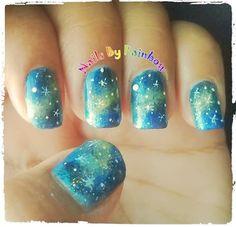 Galaxy Nails by nailsbyrainbow - Nail Art Gallery nailartgallery.nailsmag.com by Nails Magazine www.nailsmag.com #nailart
