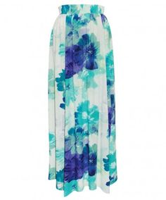4-Panel Maxi Skirt - Blooming