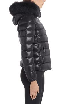 Moncler Black Badyfur Quilted Down Puffer with Removable Genuine Fox Fur Trim Jacket Size OS (one size) Spring Jackets, Winter Jackets, Moncler Jacket Women, Nordstrom Gifts, Fox Fur, Puffer Jackets, Fur Trim, Stay Warm, Sporty