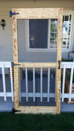 Simple diy pallet screen door
