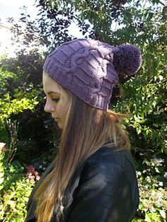 The Polperro Snakes and Ladders Beanie hat uses only 1 x 100g of 5ply guernsey yarn. It can be knit two ways; either close and snug with a contrast edging or long and slouchy with a seasonal pom pom.