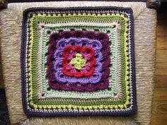 "Ravelry: 12"" Yarn Clouds Square. Free pattern."