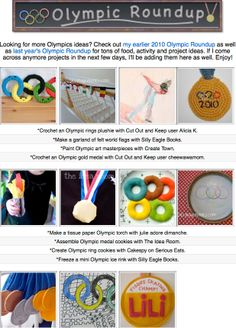 Celebrate the Olympic games with 11 crafts, printables and diy food projects for the whole family!