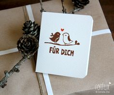"Karte ""Spatzengruß"" // Card by Frl_Rotfux via DaWanda.com"
