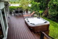 Ideas to make your back deck or patio a paradise. See more ideas about Outdoors, Patio design and Arquitetura. Hot Tub Backyard, Backyard Patio, Hot Tub Pergola, Whirlpool Deck, Jacuzzi Outdoor, Deck Jacuzzi Ideas, Outdoor Spa, Outdoor Living, Diy Garden