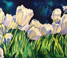 Original art featuring nature, flowers, fauna and garden theme by artist, Liana Yarckin