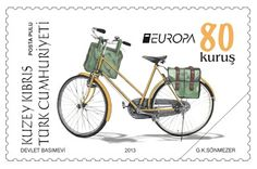 "europa stamps: Cyprus (Turkish post) 2013 - Europa 2013 ""The postman van""  celebrating PostEuropa's 20th anniversary - 1993-2013"