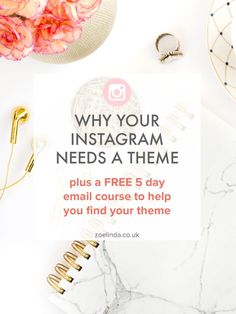 Why Your Instagram Account Needs A Theme (+ Free Email Course To Help You Find Yours) | Struggling to find your own personal Instagram theme? Don't even know if it's worth it? Don't give up! I've got a free 5 day email course just for you! Click through to find your Instagram theme!