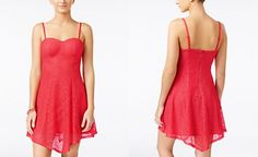 Material Girl Juniors' Lace A-Line Dress, Only at Macy's