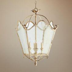 "Quorum Salento 4-Light 18 1/2"" Wide White Entry Chandelier"
