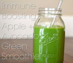 Keep The Doctor Away Apple & Avocado Green Smoothie Recipe