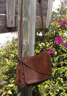 Vtg Victoria Leather Co Usa Soft Cocoa Brwn Lthr Shldr/Xbody Everyday Bag!