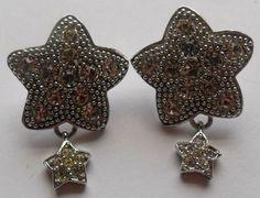 Sterling Silver Star Dangle or Drop Earrings 10 Grams by onetime, $12.25