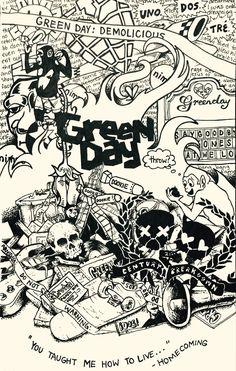 Green Day collage that I drew a few days ago