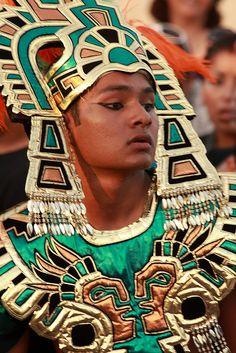 Aztec warrior in the Mazatlan Carnival parade by Alaskan Dude, via Flickr