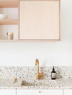 Top Home Trend: How to Introduce Terrazzo into your Home — LIV for Interiors Kitchen Inspirations, Sink, Home Trends, Scandanavian Design, Terrazzo, Scandanavian Interiors, Kitchen Trends, Interior Styling, Retro Interior Design