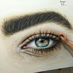 Aqua eyes by Marigona Toma Eye Close Up, Aqua Eyes, Color Pencil Art, Hazel Eyes, Eye Art, Art Tutorials, Watercolor Art, Art Drawings, Art Gallery