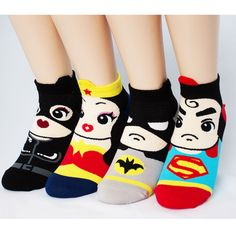 4pairs(4color)=1pack SUPER HERO SOCKS Made in KOREA women woman girl big kids #MADEINKOREA #allStyle