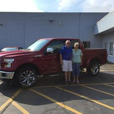 JAMES AND KAREN's new 2016 Ford F150! Congratulations and best wishes from Kunes Country Ford Lincoln of Sterling and Chris Lansford.