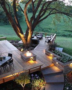 Outdoor Spaces, Outdoor Living, Outdoor Decor, Outdoor Decking, Backyard Patio, Backyard Landscaping, Backyard Ideas, Backyard Retreat, Dream Home Design