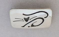 Vintage FAR FETCHED ABSTRACT CAT Sterling Silver Pin 17g #FarFetched