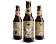 Tatanka Brewing Bottle Lable (Concept) on Packaging of the World - Creative Package Design Gallery