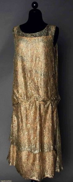Lace Party Dress, 1920s, Augusta Auctions, April 9, 2014 - NYC