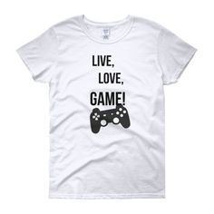 WOMEN'S FIT LIVE, LOVE, GAME TEE