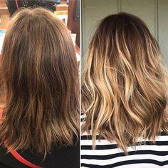 : NIKKI A  Reecia's Salon & Spa - Before & after //     #balayage #avedacolor #avedastylist #montanastylist #blondebalayage  #whitefishmontana #whitefishsalon #glaciermt #bridalhair #babylights  #avedaartists #reeciasalonandspa #hairbynikkiaverill #WhitefishSpa #aveda #avedainstitute #workwithus #joinourteam #bestofwhitefish #glaciermt #explorewhitefish #hair #hairstyle  #hairstylist  #hairdo #haircut #fashion #stylist #style