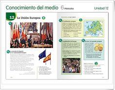 """Unidad 7 de Ciencias Sociales de 6º de Primaria: """"España y la Unión Europea"""" Editorial, Socialism, Late Modern Period, Interactive Activities, Social Science, Continents, United States, Unity"""