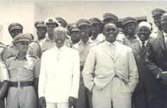 President Aden Abdulle Osman, Prime Minister Abdirashid Sharmarke  Gen Hussein Kulmiye Afrax.  So stylish. Their suits are timeless. If you look at all the old photos of Somalia's post independence administration. Their clothes wereimpeccable and they were all very elegant including the first wives. Reasoning, my mom told me Somalia had a lot of tailors back then and everything was tailor made, diraacs, shirts, pants, suits. It's not like thatany more with China and one size