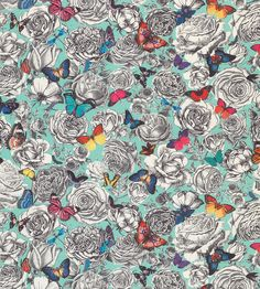 OUTDOOR LIVING | Butterfly Garden Fabric by Osborne & Little | Jane Clayton