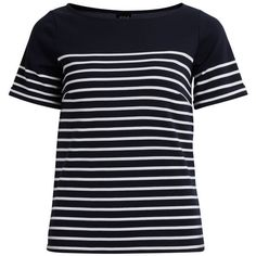 VITINNY T-SHIRT ($35) ❤ liked on Polyvore featuring tops, t-shirts, blue t shirt, blue tee and blue top