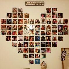 My photo heart wall