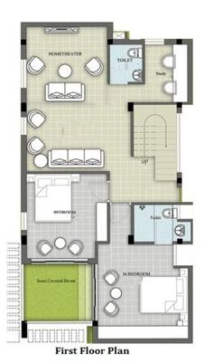 A Duplex house plan is for a single-family home that is built in two floors having one kitchen and dining. The duplex house plan gives a villa look and feel in small area. Ikea Small Apartment, Small Apartment Layout, Small House Layout, Duplex Floor Plans, Apartment Floor Plans, House Floor Plans, House Design Drawing, Duplex House Design, Model House Plan