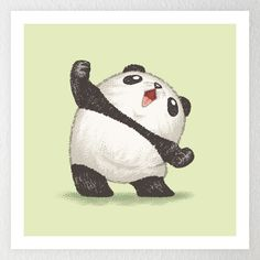 Panda joy of the victory