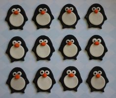 24-Piece Cute Penguin Fondant Toppers - Perfect for Cupcakes, Cookies and Other Edible Creations. $35.98, via Etsy.