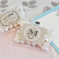 breath mint favors!  So clever!  Who doesn't need a breath mint at a wedding?!!?