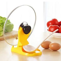 Useful Spoon Pot Lid Shelf Cooking Storage Kitchen Decor Tool Stand Holder New cooking tools Worldwide Store Kitchen Spoon, Kitchen Utensils, Kitchen Storage, Kitchen Decor, Buy Kitchen, Design Kitchen, Kitchen Organization, Lid Storage, Tool Storage
